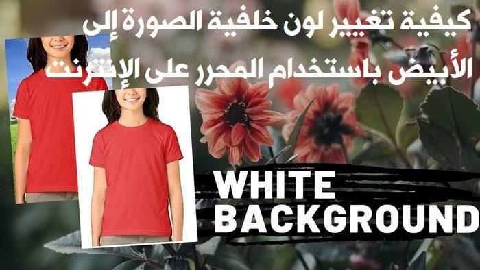 كيفية تغيير لون خلفية الصورة إلى الأبيض باستخدام المحرر على