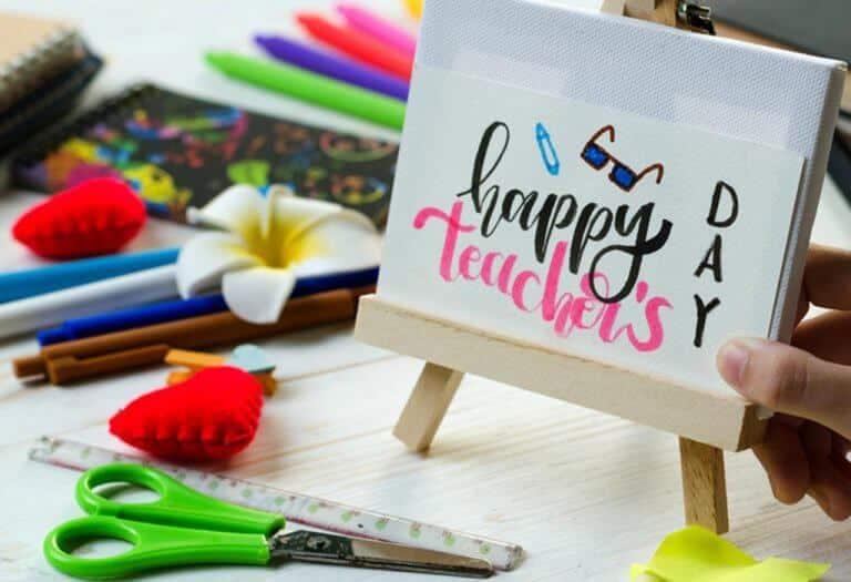 أفكار لبطاقة يدوية ليوم المعلم للأطفال أحلى هاوم