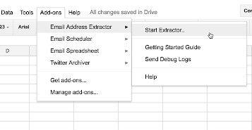 mail extractor - أفضل 15 وظيفة إضافية لـ Google Sheets لتحسين الأداء