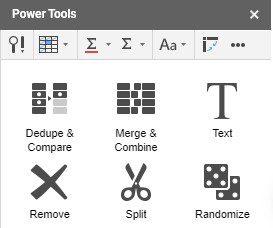 power tools - أفضل 15 وظيفة إضافية لـ Google Sheets لتحسين الأداء
