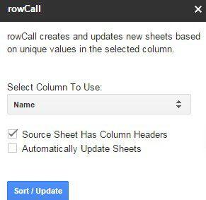 rowcall - أفضل 15 وظيفة إضافية لـ Google Sheets لتحسين الأداء