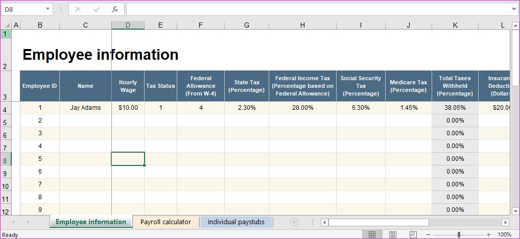 أفضل 6 قوالب Microsoft Excel لإدارة الرواتب أحلى هاوم