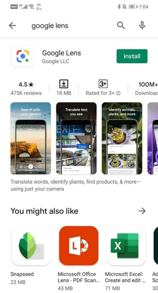 Search for Google Lens 553x1024 1 - كيفية مسح رموز QR مع هاتف Android